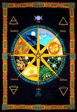 Pagan Wheel of the Year Tapestry Banner Wall Calendar Flag Wall Decor #57470