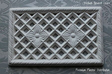 X1handcrafted Plaster Ware Medium Air Vent Cover Victorian Design 350mm X 210mm