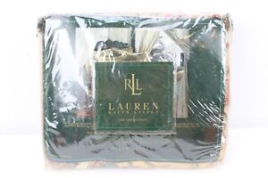 "Ralph Lauren Coco Palm Gold Leaf King Bedskirt 78"" x 80"""