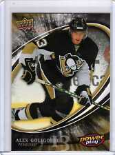 ALEX GOLIGOSKI 08/09 UD Power Play Rookie RC Pittsburgh Penguins 372 Hockey Card