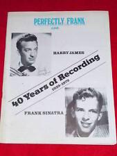 SINATRA - PERFECTLY FRANK #155  June 1979 - HARRY JAMES
