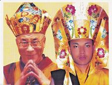 Dalai Lama + Karmapa Poster TIBET BUDDHISMUS MÖNCH HIMALAYA DHARMA INDIEN NEPAL