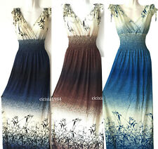 women long maxi summer beach hawaiian Boho evening party sundress dress CHIC #19