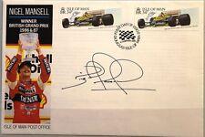 GB ISLE of MAN 1988 FDC 366 362 Nigel Mansell Signature Race Cars Rennautos Auto