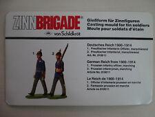 Zinnbrigade von Schildkröt Zinngießform Deutsches Reich 1900-1914  Nr. 1 A & B
