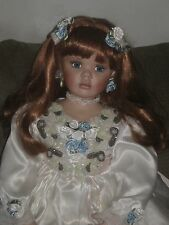 "BEAUTIFUL RED HAIR PORCELAIN RUSTIE DONNA RUBERT ANGELIQUE GIRL DOLL 33"" LG"