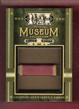 WWII WORLD WAR LEGION OF MERIT SERVICE RIBBON RELIC CARD GOODWIN CHAMPION MUSEUM