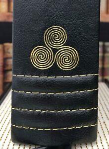 Brythonium Secret Storage Hollow Book Box Bn Black Faux Leather With Gold Stitch