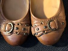 Shoes, GIANNI BINI, brown ballerinas front buckle accents, SZ:8M