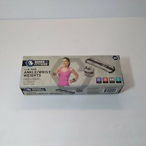 Series 8 Fitness Adjustable Ankle / Wrist Weights Set 2LB each (4LB pair)