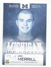 2010-11  Michigan Wolverines Jon Merrill (Vegas Golden Knights)