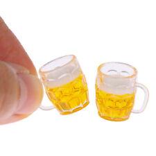 1pc Dollhouse miniatura taza de cerveza casa de muñecas cocina para bebidas