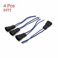 4pcs H11 Male Socket Wire Auto Car Headlight Fog Light Wiring Harness Adapter