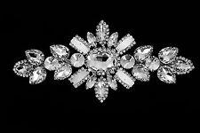 Strassstein Diamant Applikation zum Aufnähen Motiv Hochzeit Silber Kristall A500