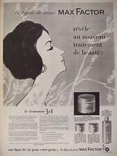 PUBLICITÉ 1959 MAX FACTOR LIGNE DE SOINS POUR LA PEAU - ADVERTISING