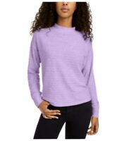 Hippie Rose Juniors Cozy Mock Neck Ribbed Top-Lilac Large *NEW*