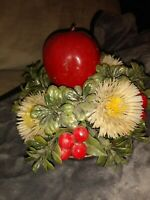 "Vintage 70's 6""  Holiday Salad Bowl"