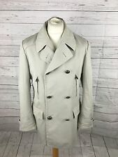 "Men's CORNELIANI ID Double Breasted Rain Mac - Large 44"" Beige - Great Condition"