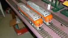 LIONEL TRAINS F3'S WESTERN PACIFIC A A DIESEL VINTAGE POST YEAR 1952,LIGHTS,HORN