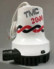 New TMC Bilge Pump 2000 GPH - 12 volt  BLA 131604 Marine Boating Bilge Pumps