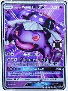 Carte Pokemon Venusaur - Florizarre - GX EX Metal Black / Card Billet no Gold