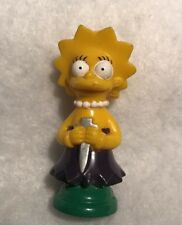 The Simpsons Chess Replacement Piece Token Cake Topper Lisa Purple Knight 1992