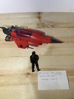 Vintage 1988 Hasbro GI Joe Cobra Stellar Stiletto plane & pilot