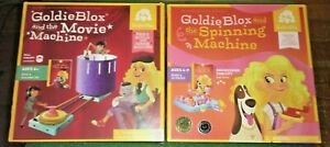 2 Piece Goldie Blox  - Spinning Machine + Movie Machine - BOTH COMPLETE
