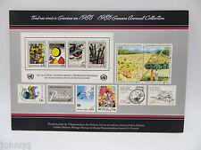 United Nations UN Souvenir Stamp Folder - 1986, Geneva, MNH Scott 140-150