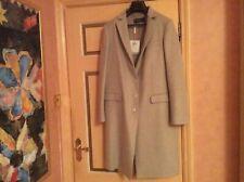 Large Wool Ferragamo Ladies Coat Oatmeal 48 New Original £2150 Italy Designer