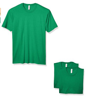Marky G Apparel Men's CVC Crew T-Shirt (3 Pack) Kelly Green Size Small NWT