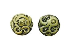 """Norse Foundry RPG D20 Adventure Coins """"100"""" Gold Piece Set of 10 Stream Punk"""