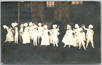 KIDS ELEGANT DANCING ANTIQUE RPPC REAL PHOTO POSTCARD JAMAICA N.Y. POSTMARKED
