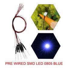 L0805B 20pcs Pre Wired BLUE SMD 0805 Led Lamp Light Set 12V ~ 18V NEW