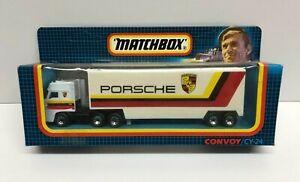 vintage 1987 Matchbox International Convoy PORSCHE DAF Box Car CY-24 diecast