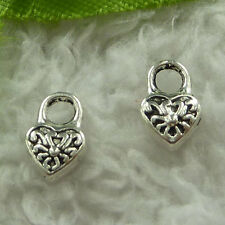 free ship 600 pieces tibet silver lock charms 10x6mm #3723