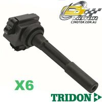 TRIDON IGNITION COIL x6 FOR Holden  Rodeo RA03 11/02-11/05, V6, 3.5L 6VE1