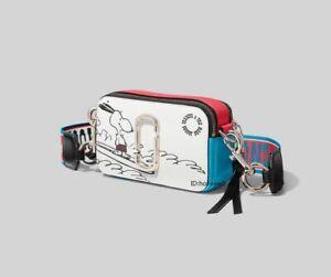 NWT  MARC JACOBS Snapshot Small Camera Bag snoopy peanut white bag sales