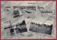 FERRARA COMACCHIO 27 PORTO GARIBALDI - SALUTI da...Cartolina viaggiata 1954