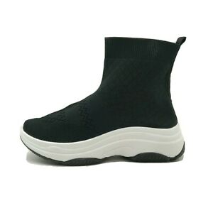 Womens Knitted Sock Trainer Speed Runner Race Ladies Hi Top Sneaker Shoes Size 6