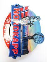 Nordkapp 3D Holz Souvenir Magnet 8,5cm Norwegen Lappland Finnmark