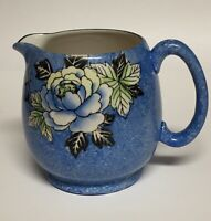 Royal Trico Nagoya Japan Pitcher Speckled Blue Rose 4.75""