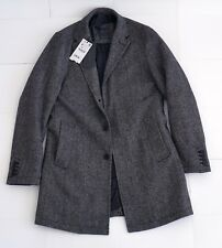 Tweed Wool Coat with Quilted Lining Grey 3642 / 351 Medium Supreme NEW