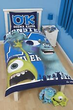 Disney Pixar Monsters University Children's Bedroom Single Bed Duvet Pillow Set