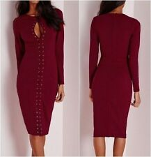 Missguided Lace Long Sleeve Dresses for Women