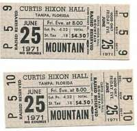 Mountain Concert Ticket Set of 2 1971 Tampa Gray