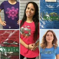 3-CT LOT Sahalie Women's Saturday Market Tee Shirts Tops Boho LARGE T-Shirts NWT