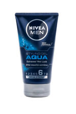 Nivea Aqua Hair Styling Gel Extreme Wet Look Mega Strong Hold for Men 150ml