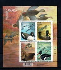 CANADA 2006 DUCK DECOYS BLOCK OF 4 & MINISHEET MINT NEVER HINGED MNH BIRDS