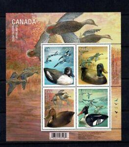 CANADA 2006 DUCK DECOYS BLOCK OF 4 & MINISHEET MINT NEVER HINGED MNH BIRDS